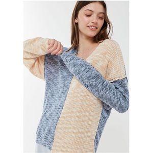 UO Morgan Spliced V-Neck Sweater